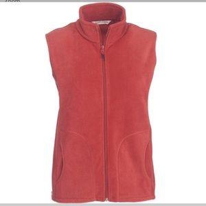 Woolrich Andes Fleece Zip Up Vest Red